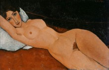 Обнаженная на белой подушке - Модильяни, Амадео