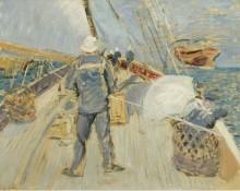 На судне, 1897 - Эллё, Поль-Сезар