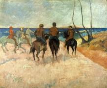Всадники на пляже - Гоген, Поль