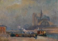 Собор Парижской Богоматери, вид с набережной Турнель - Лебург, Альберт