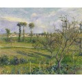 Закат на Валерме, Овер-сюр-Уаз, 1880 - Писсарро, Камиль
