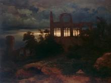 Пейзаж с руинами замка - Бёклин, Арнольд