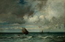 Морской пейзаж с надвигающимся штормом - Дюпре, Жюль