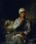 "Женщина с ребенком (""Тише!"") - Милле, Жан-Франсуа"