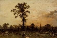 Опушка леса на закате дня - Руссо, Теодор