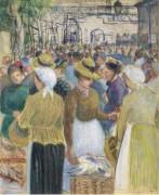 Рынок мяса птицы,1890 - Писсарро, Камиль