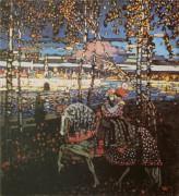 Двое на лошади, 1906 - Кандинский, Василий Васильевич