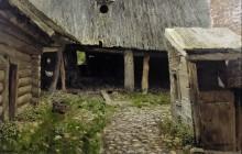 Ветхий дворик. Плёс. 1888-90 - Левитан, Исаак Ильич