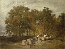 Пейзаж с лесорубами - Труайон, Констан
