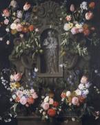 Мадонна с Младенцем в окружении цветочных гирлянд - Сегерс, Даниель