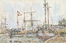 Порт в Сен-Серване, 1929 - Синьяк, Поль
