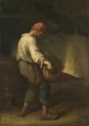 Человек просеивающий крупу - Милле, Жан-Франсуа