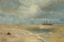 Морской пейзаж с парусным судном - Айвазовский, Иван Константинович