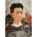 Автопортрет с обезьянкой - Кало, Фрида
