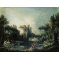 Пейзаж с прудом - Буше, Франсуа