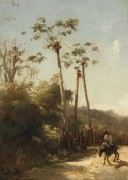 Антильский пейзаж и всадник на осле, 1856 - Писсарро, Камиль