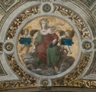 Станца делла Сеньятура: Роспись потолка (фрагмент) - Богословие - Рафаэль, Санти