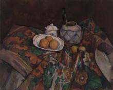 Натюрморт с имбирным кувшином, сахарницей и апельсинами - Сезанн, Поль