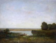 Речной пейзаж - Руссо, Теодор