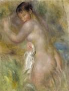 Купальщица, 1885-90 - Ренуар, Пьер Огюст