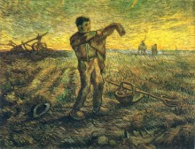 Вечер, завершение дня, по работе Милле (Evening - The End of the Day (after Millet)), 1889 - Гог, Винсент ван