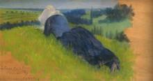 Крестьянка лежит в траве - Кросс, Анри Эдмон