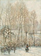Утро, солнечный эффект, зима, 1895 - Писсарро, Камиль