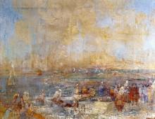Карнавал на берегу моря на пляже, 1887 J - Энсор, Джеймс