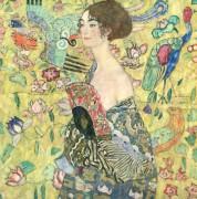 Дама с веером - Климт, Густав