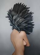 Девушка с черными перьями. Ню - Копии Эми Джадд