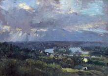 Низина в Медоне, вид с холмов Бельвю - Лебург, Альберт