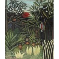 Обезьяны и попугай в девственном лесу - Руссо, Анри