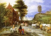 Деревенская дорога, 1603 1605 - Брейгель, Ян (Старший)
