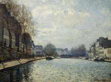 Вид на канал в Сен-Мамесе - Сислей, Альфред