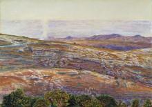Вид на долину Мертвого моря со стороны Силоама - Хант, Уильям Холман