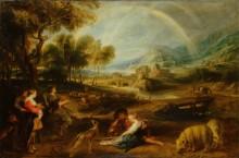 Пейзаж с радугой -  Рубенс, Питер Пауль