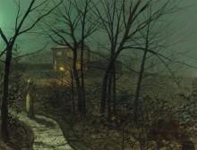 Женщина на пути к коттеджу - Гримшоу, Джон Аткинсон