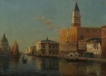 Гранд-канал и дворец Дожей - Бувар, Антуан