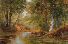 Лесники в осеннем лесу - Арнеггер, Алоис