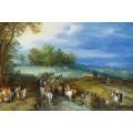 Пейзаж с путниками на дороге - Брейгель, Ян (Старший)