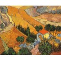 Пейзаж с домом и пахарем - Гог, Винсент ван
