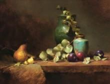 Зеленая ваза и сливы - Ридель, Давид