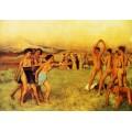 Спартанские девушки вызывают юношей на соревнование,1860 - Дега, Эдгар