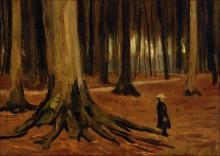 Девочка в лесу, 1882 - Гог, Винсент ван