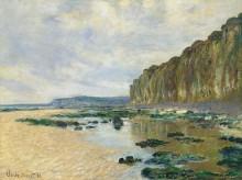 На скале в Пурвилле, 1882 - Моне, Клод