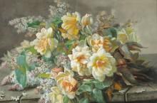Натюрморт с розами и сиренью. - Лонгпре, Пауль де
