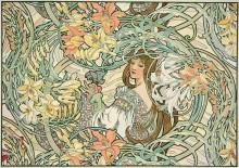 Женщина среди лилий - Муха, Альфонс