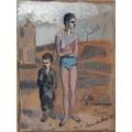 Юный акробат с ребенком - Пикассо, Пабло