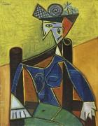 Женщина на стуле - Пикассо, Пабло