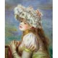 Девушка в кружевной шляпке - Ренуар, Пьер Огюст